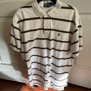 Ralph Lauren Polo (XL) Brown White Stripes